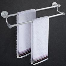 цена 50cm Anti-rust Towel Rack Organizer Wall Mounted Double Towel Bar Holder Home Bathroom Storage Shelf Rack Towel Rail Bracket онлайн в 2017 году