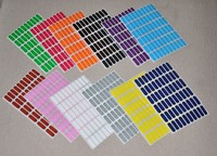 100 Sheets Self adhesive Colored Oval Category Label, Product Bottle Box Classification Stickers, 60 Labels per Sheet, 8x24mm