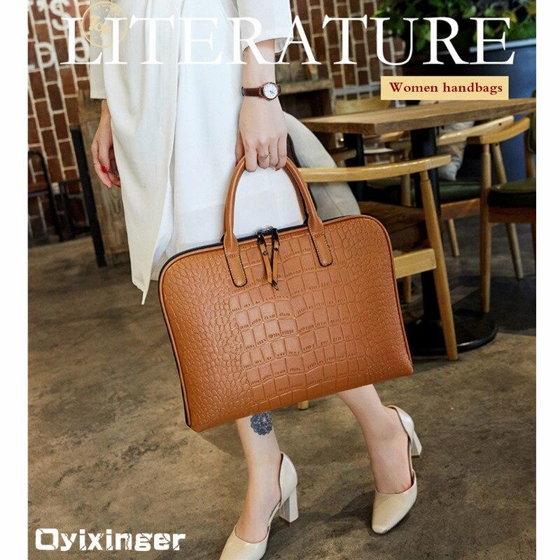 Nouveau sac d'affaires femme en cuir sac à main fourre-tout sacs à main de luxe femmes Portable PU en cuir sacs à bandoulière sac de travail de bureau