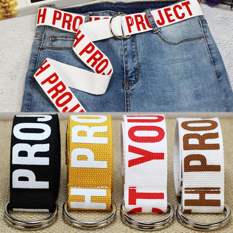 Hombres adulto ajustable impresión en forma de letra D Stband Nylon cintura anchura cómodo algodón estudiante doble hebilla 1 unid