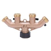 3/4 garden hose connector American 4 way ball valve