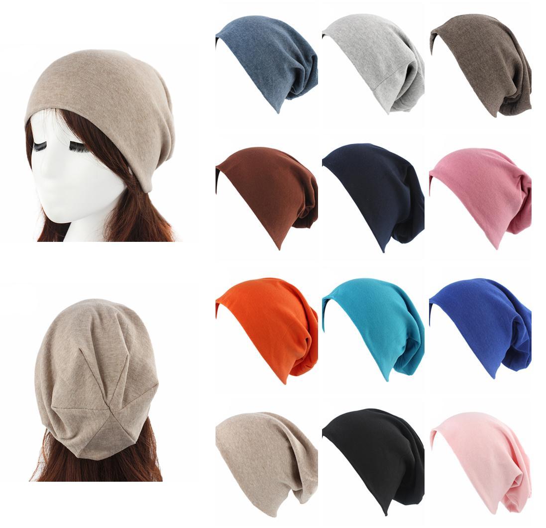 Men Women Knit Hair Loss Wrap Hats Hip Hop Beanies Fashion Plain Cap Beanie Solid Color Casual Caps Unisex Bonnet Cap Ski Hat