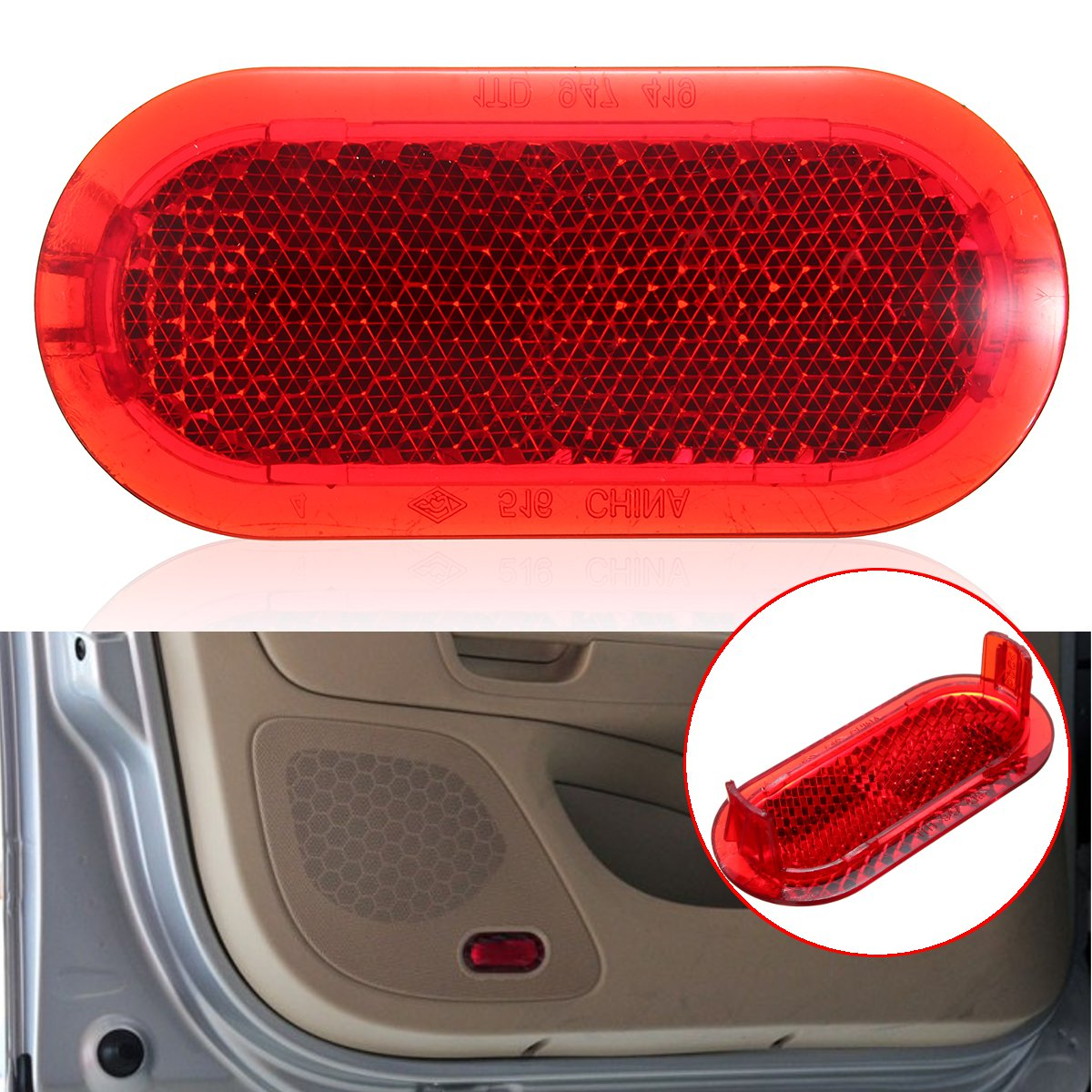 1Pcs Car/Auto Door Interior Courtesy Door Red Warning Light Reflector For VW Beetle Caddy Polo Touran 6Q0947419