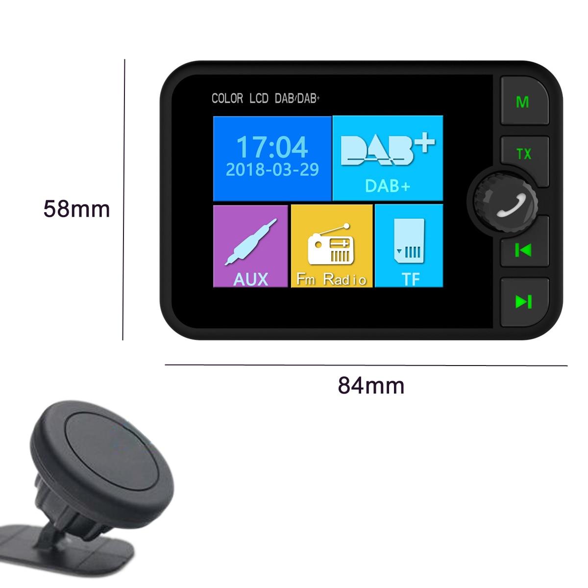 Lecteur de voiture MP3 DAB/DAB + récepteur voiture stéréo universel voiture DAB Radio couleur écran bluetooth FM/AUX avec étiquettes aimantées
