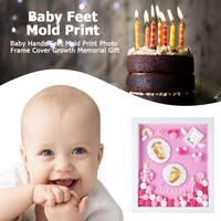 Baby Hands Feet Mold Print Photo Frame with Cover DIY Hand & Footprint Makers Growth Memorial Gift Baby Souvenirs Baby Gifts
