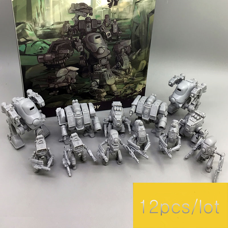 JOY TOY 1/35 model kit robot Figures Mini Machine (12/pcs) model toys nude color opp bags Free shipping image