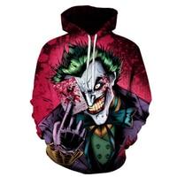 anime Suicide Squad hoodie Harleen Quinzel Joker Hooded Costumes 3d printing Joker Sweatshirts Costumes jacket