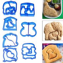 Случайный цвет Творческий обед DIY бутерброды резак формы форма еда Резка Die хлеб печенье для детей Детская безопасность