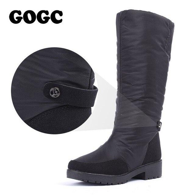 GOGC/зимние сапоги, женские сапоги до колена, большой размер, высокое качество, непромокаемая Брендовая женская обувь, теплая зимняя обувь, же...