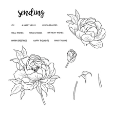 peony flower Transparent Clear Silicone Stamp/Seal for DIY scrapbooking/photo album Decorative clear stamp