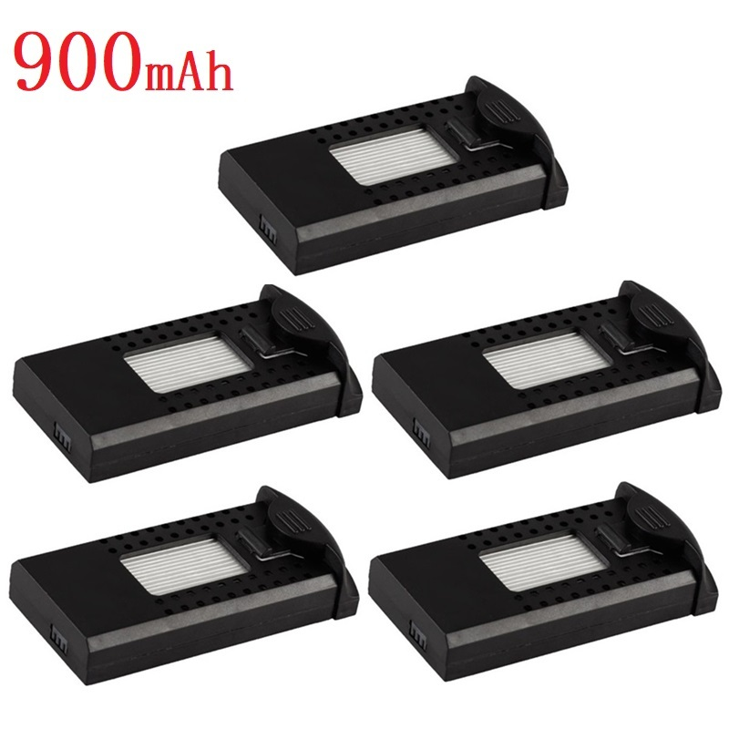 5pcs/lot For SG700 DM107s S169 RC Quadcopter Spare Parts Accessories 3.7V 900mAh Lipo Battery for RC Helicopters Drones <font><b>752560</b></font> image