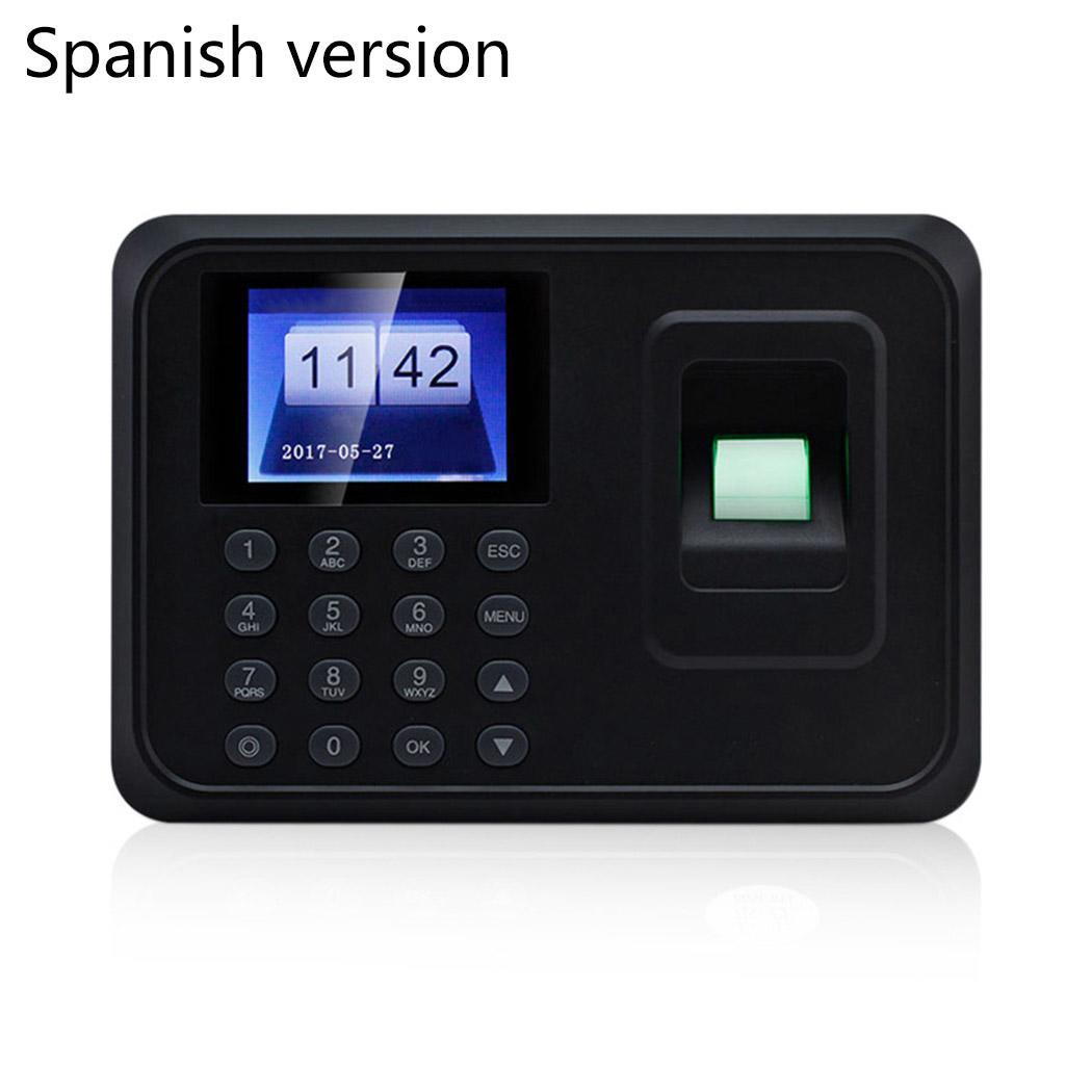 Biometric Fingerprint Access Control Machine Punch USB Time Clock Office Attendance Recorder Timing Employee RFID Reader