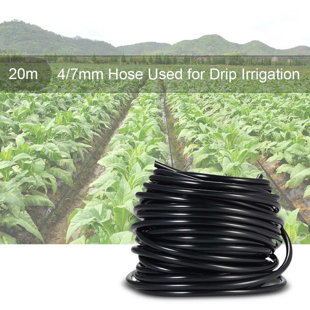 50 メートル散水チューブホースパイプ 4/7 ミリメートル点滴灌漑システムのための庭の芝生風景パティオ植物花水供給