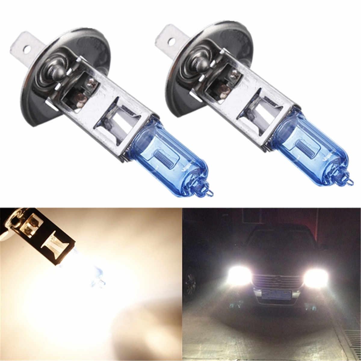 1/2/4/10pcs H1 Super Bright White Fog Halogen Bulbs 100W Car Headlight Lamp Lights 12V car styling car light source parking auto
