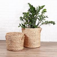 New Hand woven Rattan Weaving Laundry Fruit Basket Plant Flowerpot Basket Toy Clothes Debris Storage Basket