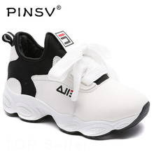 Korean Chunky Sneakers Women Vulcanize White Shoes