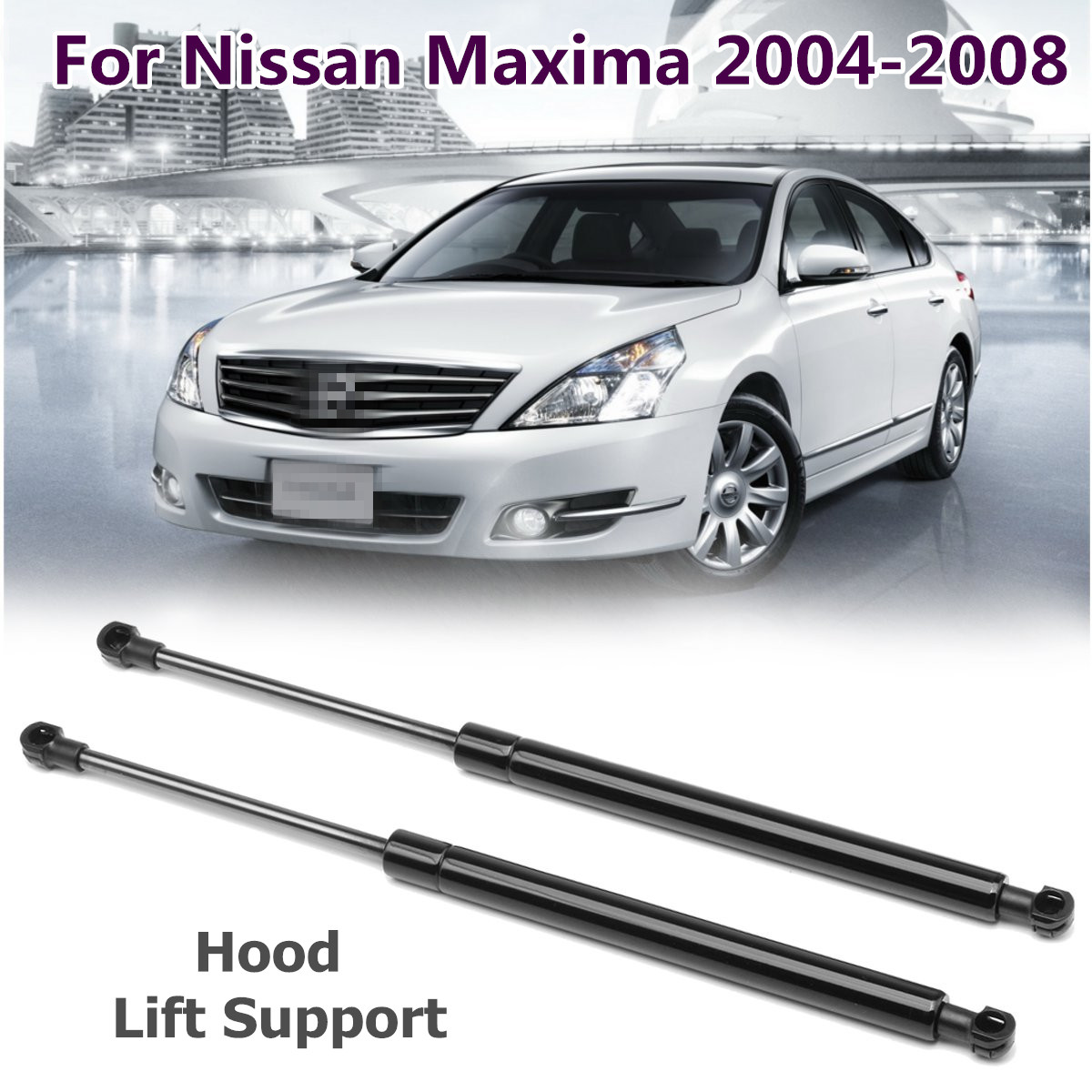 2Qty Rear Trunk Shock Spring Lift Support Prop Strut For Nissan Maxima 2004-2008