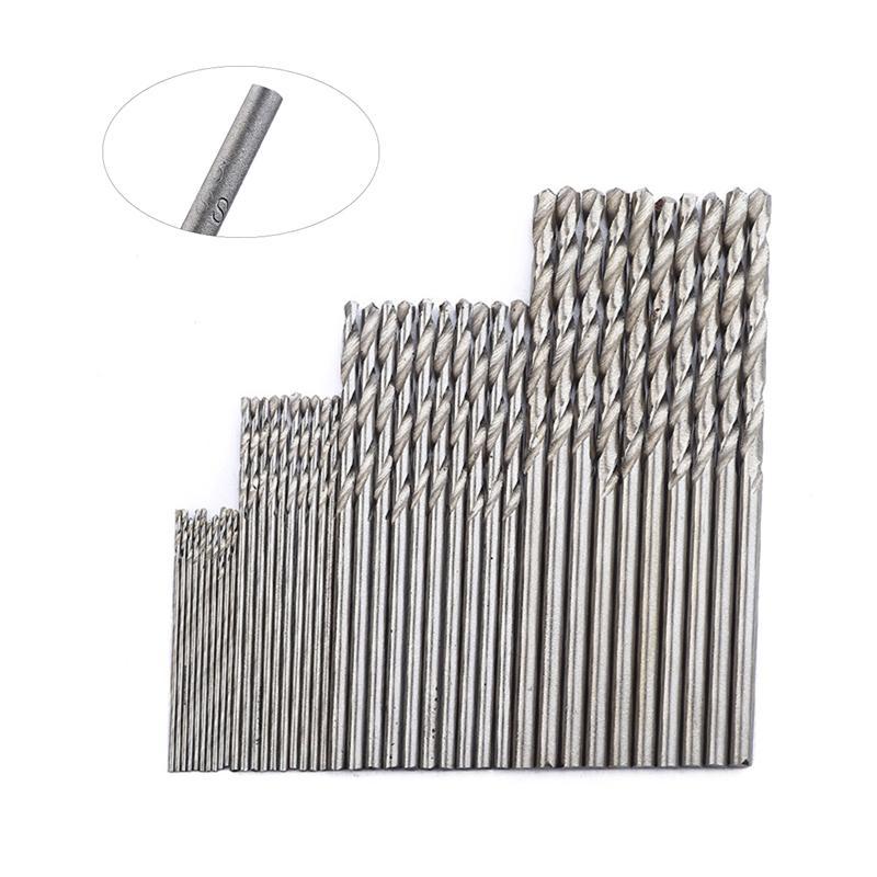 40pcs Twist Drill Bit HSS Coated Precision Drill Set For Metal Steel Copper Aluminum Wood