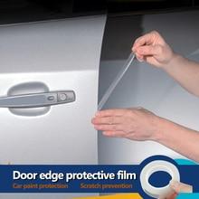 YOSOLO 1.5cm x 5m peinture Film protecteur de porte anti rayures Film anti rayures autocollant voiture porte bords garde style moulures