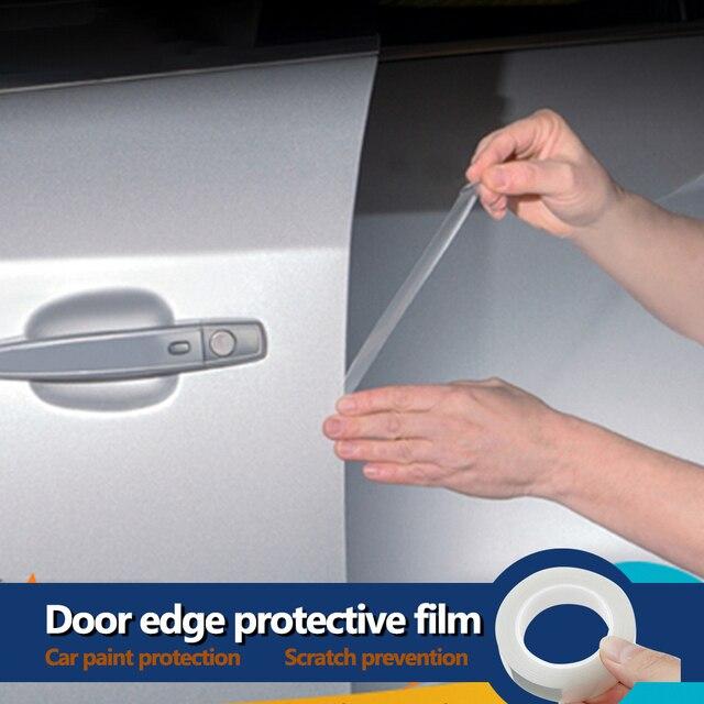 YOSOLO Película protectora de pintura de 1,5 cm x 5m, Protector contra rasguños de puerta, antiarañazos pegatina, molduras de estilismo para bordes de puerta de coche