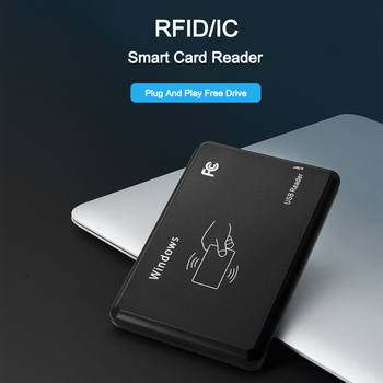 Eseye 13.56Mhz RFID Reader 14443A Proximity Smart IC Card USB Sensor Reader upport Window System Access Control Card Reader цена 2017