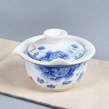 Китайский классический кунг-фу чайная супница высокого качества элегантный gaiwan удобный чайный горшок фарфоровый чайник Pu er чайные горшки дорожные чайные наборы