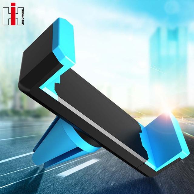 Hisomone Universal Car Phone Holder Pop Stand Air Vent Mount Holder 360 Degreen Car Holder For Phone Support 4-6 inch Socket