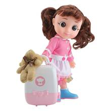 Cute Simulation Lifelike Doll Toy for Girls Lovely Soft Speaking Sound Kids Appease Accompany Pretend Play Dolls Toy(China)