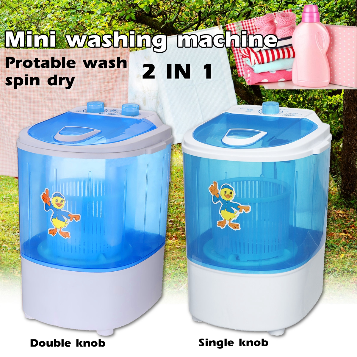 Mini Wash Machine Semi-automatic Single-barrel Washer Prevent Winding Wave Wheel Laundry Product Mini Wash Machine Semi-automatic Single-barrel Washer Prevent Winding Wave Wheel Laundry Product
