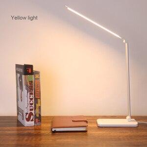 Image 5 - 책상 램프 터치 센서 led 테이블 램프 usb 전원 디 밍이 가능한 책 독서 등 3 밝기 조정 타이머 전원 끄기