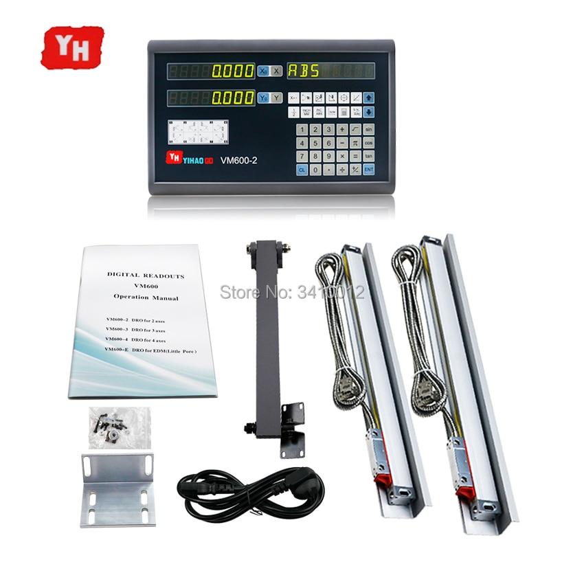 Полный цифровой индикации дисплей системы 2 оси Dro + шт. 5u линейный кодер оптическая линия измерения линейные весы