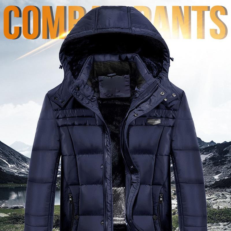 Men's Electric Heated Coat Winter Outdoor Long Electric Heated Coat Smart USB Charging Heated Jacket Electric Heated Coat