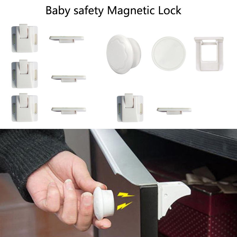 Magnetic Safety Invisible Cupboard Lock Baby Child Pet Proof Drawer Security Locking System Kids Children Protection