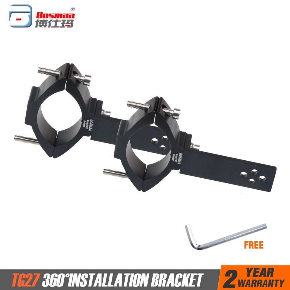 BOSMAA TG27 Motorcycle LED Headlight Tube Fork Bracket For Cafe Racer Chopper Motorcycle Hunting Lamp Clamp Holder 50-69mm