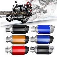 Universal Stainless Steel Short Exhaust Pipe Chrome Muffler Silencer Removable Accessories for 38 39 40 41 51mm Motorcycle
