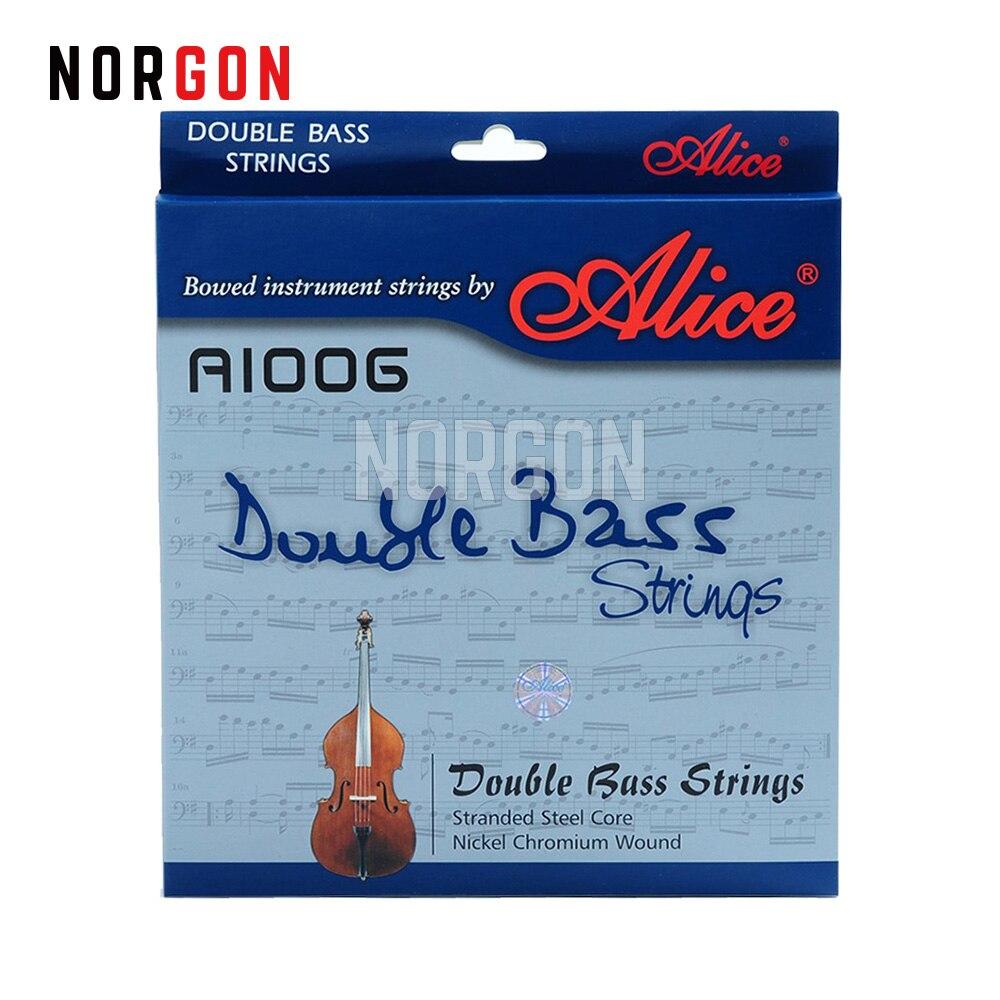 Alice Double basse cordes guitare ni-cr enroulement en acier tressé noyau 4 cordes/5 cordes Premium cordes pièces et accessoires A1006