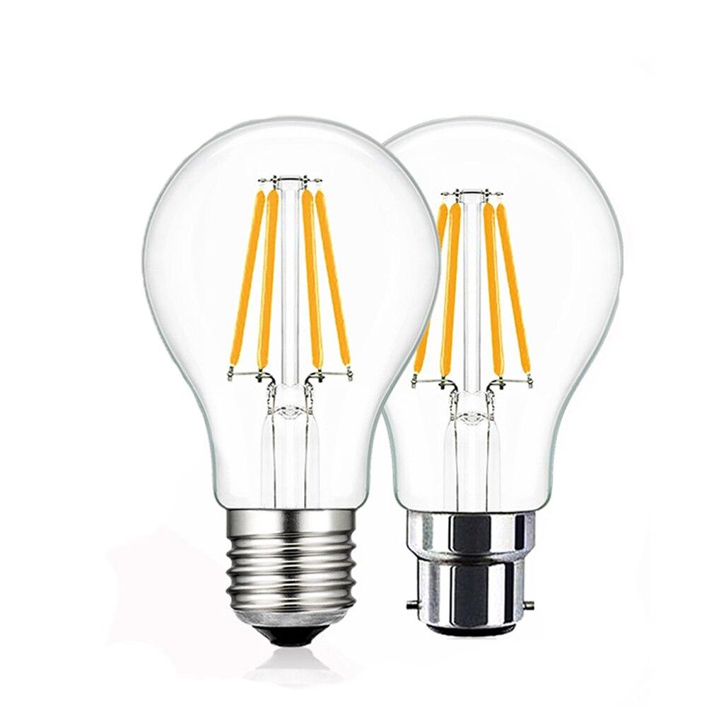 T10 E26 E27 4w Led Vintage Antique Filament Light Bulb: SHINA 4pcs 4W Antique LED Bulb Vintage Edison LED Bulb A19