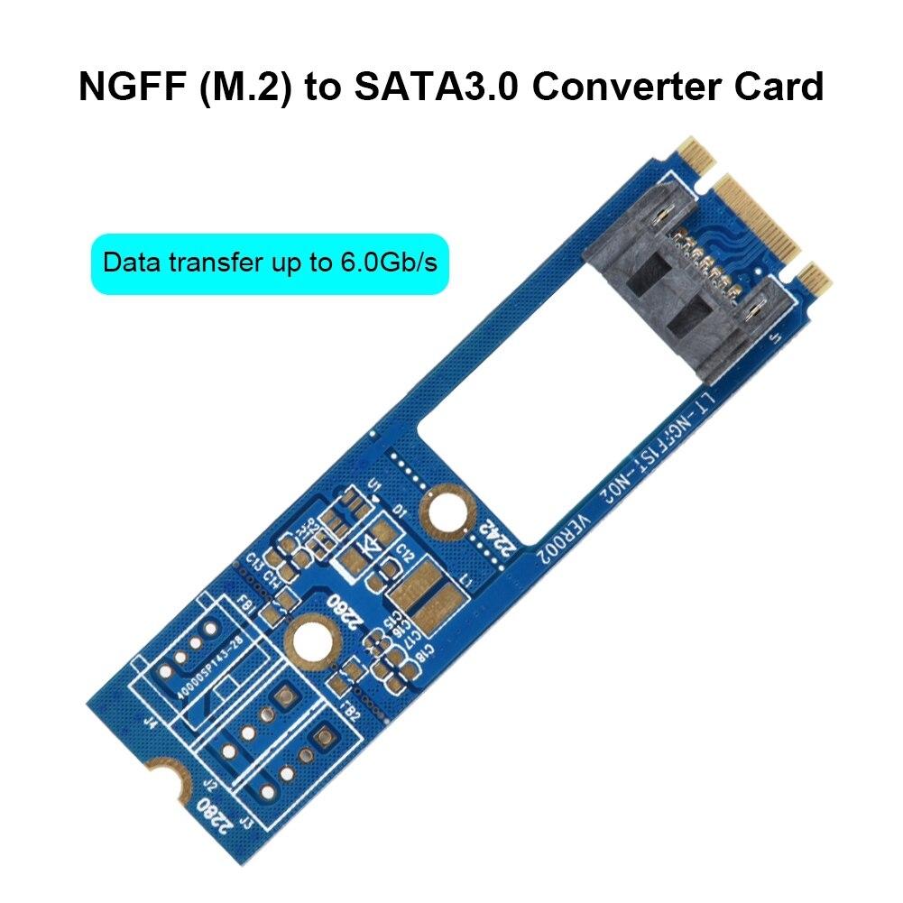 Constructive New M2 To Sata M.2 Ngff Sata To 7pin Sata Converter Adapter Card Horizontal 1pcs Ngff1st-n01 Adapter Card Comfortable And Easy To Wear