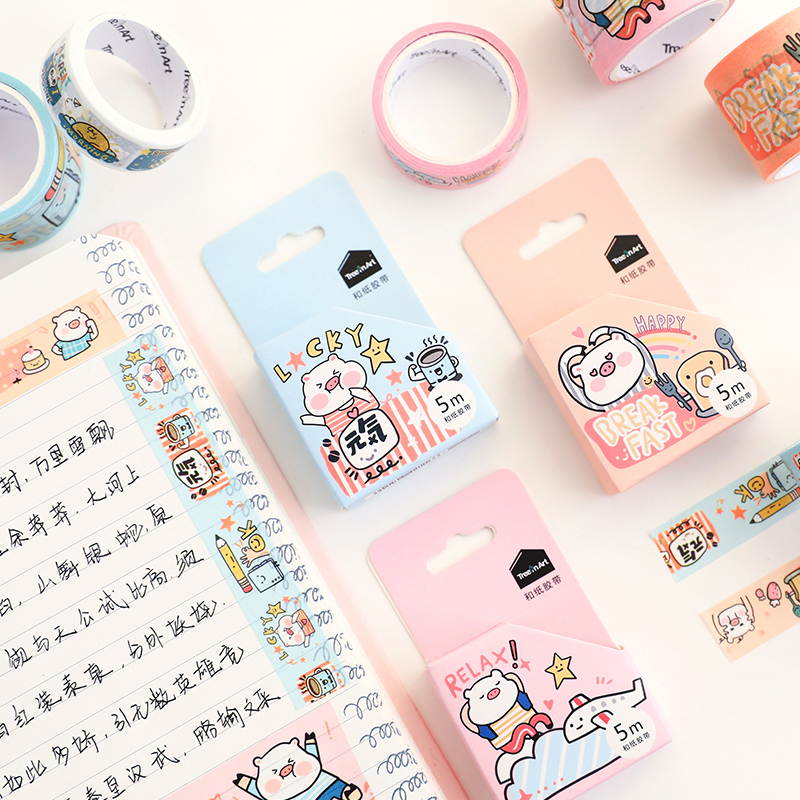 Japan Paper Tape And The Wind Watercolor Wasi Tape DIY Decoration Scrapbooking Planner Masking Tapee Label Sticker Stationery