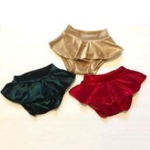 Одежда для новорожденных девочек трусики с рюшами Детские пышные трусики с узорами