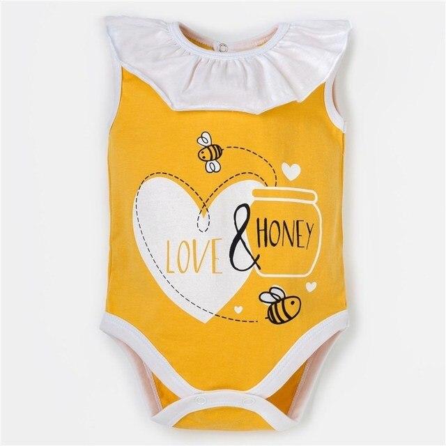 """Боди Крошка Я """"Love & honey"""", жёлтый, р. 28, рост 86-92 см   4090318"""