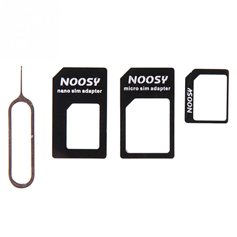4 In 1 NANO SIM Adapter With Card Pin SIM Card Transformation For IPhone 4/4S  For IPhone 5/5S/5C #25