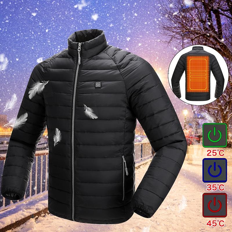 Best Price Upgraded Men Outdoor Safety Clothing USB Infrared Heating Vest Jacket Winter Carbon Fiber Electric Thermal Clothing W цена в Москве и Питере