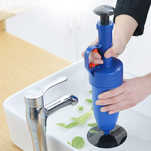 Handle Powerful Suction Plunger Toilet Cleaner Drain Buster Air Blaster Pump Sink Pipe Clog Remover Supply