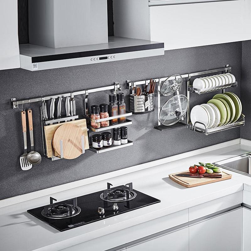 Especias Cosina Organizer And Kuchnia Dish Stainless Steel Cocina Organizador Cuisine Mutfak Kitchen Storage Rack Holder
