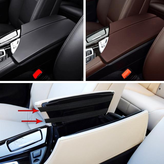 Reposabrazos central de microfibra para coche, funda protectora de cuero para BMW serie 5, F18, 2011, 2012, 2013, 2014, 2015, 2016, 2017
