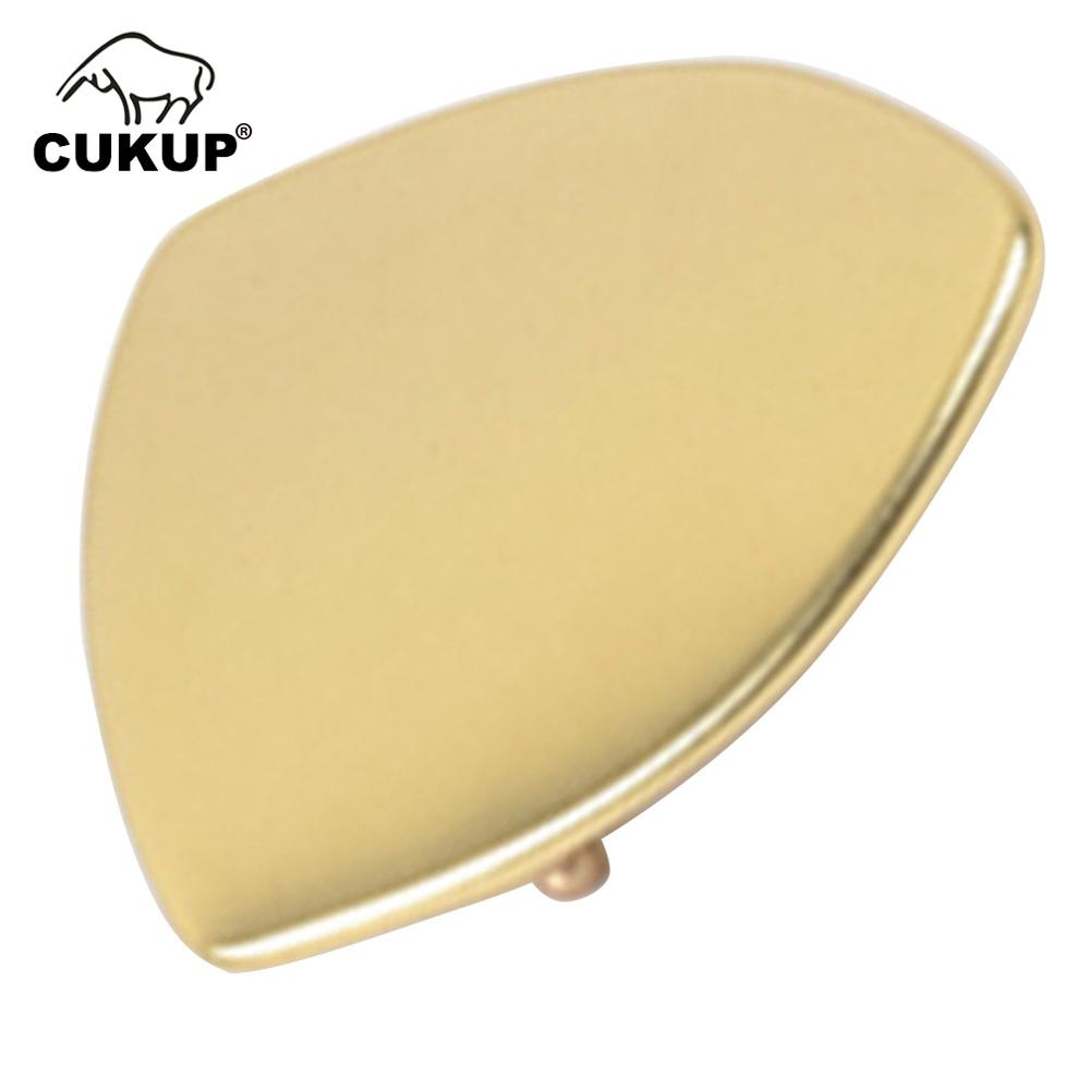 CUKUP New Brand Name Unique Design Geometric Triangle Pattern Solid Brass Buckle Metal 3.7-3.9cm Wide Belt Paties Buckles BRK046