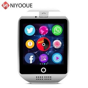 Image 4 - Smart Watch Q18 supporto Sim Card telecamera remota per IOS Android Wear Wach PK DZ09 GT08 Smartwatch Phone Relogio Inteligente