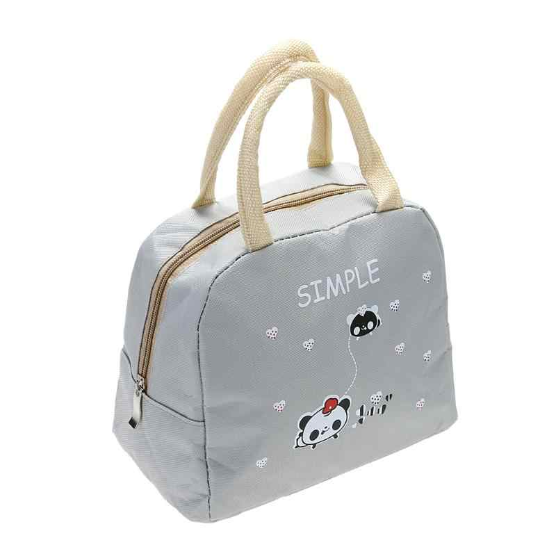... Portable Canvas Lunch Bag Thermal Food Picnic Lunch Bags for Women  Female kids Men Cooler Lunch ... 4fba45b1b729