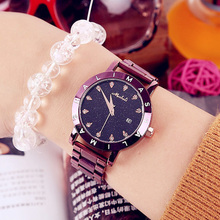 More Colors Korea Hot Style Quartz Watch for Women Delicate Fashion Simple Steel Strap Star Sky Dial Gift